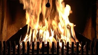 Burning Fireplace with High Quality Crackling Fire Sounds (Real Time Full HD Recording)