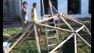 getlinkyoutube.com-Купол. Каркас из дерева и метала.