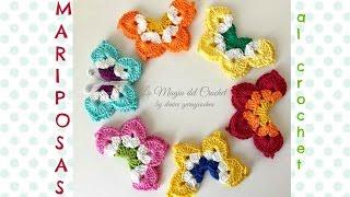 getlinkyoutube.com-Cómo hacer Mariposas al Crochet
