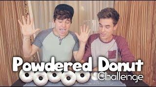 getlinkyoutube.com-Powdered Donut Challenge