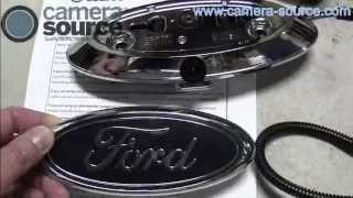 getlinkyoutube.com-Camera Source Ford F150, F250, F350 backup camera kit installation with gyro mirror CS-FTR-F35