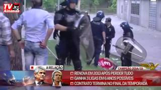 Police attacked in a barbaric manner a family of Benfica fans 17.05.2015
