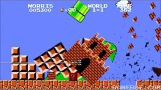 getlinkyoutube.com-Chuck Norris vs Super Mario Bros