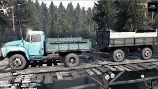 SPINTIRES 2014 - The Hill Map - ZIL 130 + Full Trailer