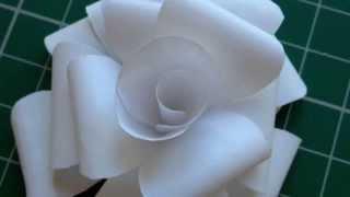 getlinkyoutube.com-DIY Simple Paper Roses Tutorial
