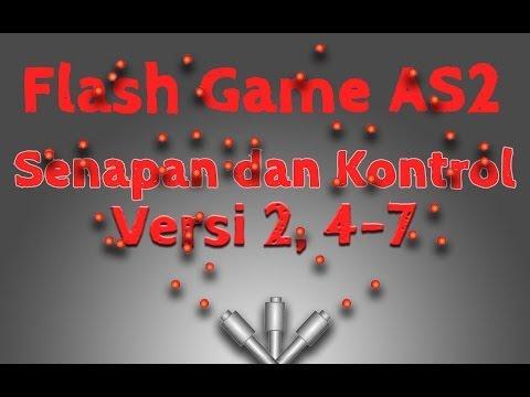 Membuat Game Flash Actionscript 2, 12, Senapan dan Kontrol Versi 2, Batas Putaran Senapan dan Fungsi