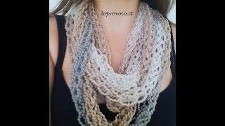 getlinkyoutube.com-Finger knitting - Come fare la maglia con le dita