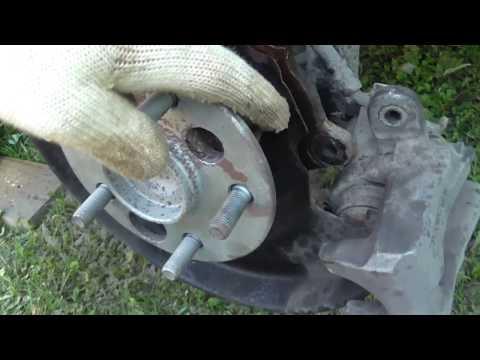 Замена ступицы и датчика ABS на тойоте каролла 150