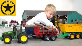 getlinkyoutube.com-BRUDER TRUCKS and Tractors for CHILDREN best of BRUDER TOY KID Vol.2
