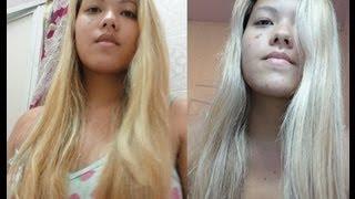getlinkyoutube.com-Violeta Genciana (VG) + Água para desamarelar cabelos loiros