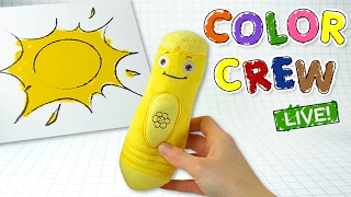 getlinkyoutube.com-Learn Colors with Color Crew Toys Coloring Pages for Kids | Color Crew Live | BabyFirst TV