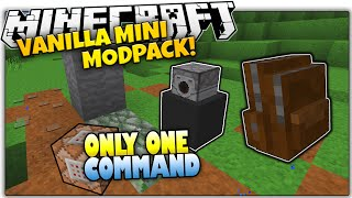 getlinkyoutube.com-Minecraft VANILLA MOD PACK | Backpacks, Paths & MORE | Only One Command (Minecraft Vanilla Mod Pack)