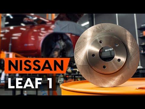 Как заменить передние тормозные диски наNISSAN LEAF 1 (ZE0U)(ВИДЕОУРОК AUTODOC)