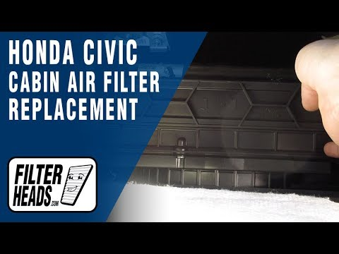 How to Change a Pollen Filter 2007 Honda Civic