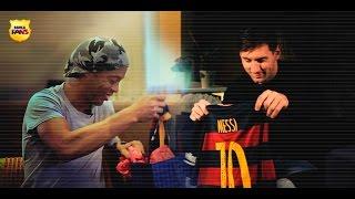 Messi & Ronaldinho: Un regalo de 10