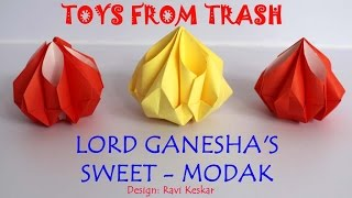 getlinkyoutube.com-Lord Ganesha's Sweet - Modak | Hindi | Origami
