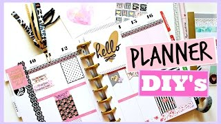 getlinkyoutube.com-PLANNER DIY'S: Page Flags, Covers, and Bookmarks | Huge GIVEAWAY!