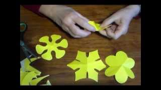 getlinkyoutube.com-Como cortar flores de 6 pétalos- As cut flowers 6 petals-