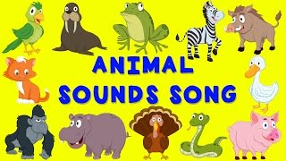 getlinkyoutube.com-Animal Sounds Song | English nursery rhyme | Baby Song for children
