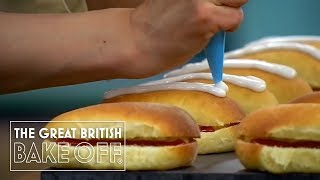 getlinkyoutube.com-Ice Bun Disaster - The Great British Bake Off