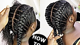 getlinkyoutube.com-How To Cornrow For BEGINNERS / NEW METHOD