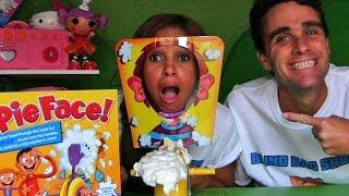 getlinkyoutube.com-Pie Face w/ Hello Kitty, Doc McStuffins, Palace Pets Blind Bags! || Blind Bag Show Ep8 || Konas2002