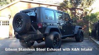 getlinkyoutube.com-LOUDEST! Gibson Exhaust on my Jeep Wrangler!