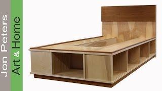getlinkyoutube.com-Trim, Veneer & Finish a Platform Bed with Storage - Part 2
