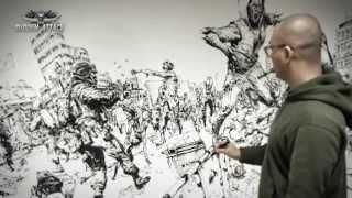 getlinkyoutube.com-김정기 Kim Jung Gi Sudden attack 통제구역 6 Drawing