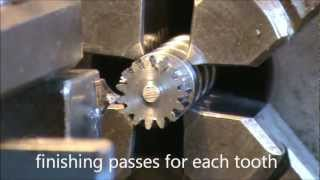 getlinkyoutube.com-Broaching external gears on lathe - planetary gear