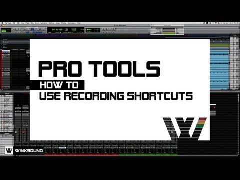 Pro Tools: Recording Shortcuts | WinkSound