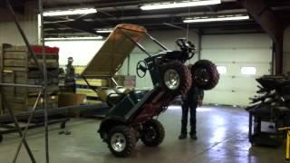 Jake's EZGO TXT Winch Mount Strength Test - YouTube on golf cart spare tire mount, golf cart spoiler, golf cart step plate, golf cart fire extinguisher, golf cart tachometer mount, golf cart brush guards, golf cart bug shield, golf cart skid plate, golf cart tie down, golf cart gps mount, golf cart roof rails, golf cart light kit, golf cart dog box, golf cart sun shade, golf cart bed liner, golf cart radio mount, golf cart switch, golf cart repair manual, golf cart scan tool, golf cart muffler,