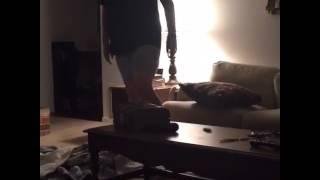 getlinkyoutube.com-Drunk guy pees on the floor then runs into glass door