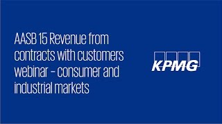 Revenue from contracts with customers (Consumer & Industrial Markets) – Webinar recording