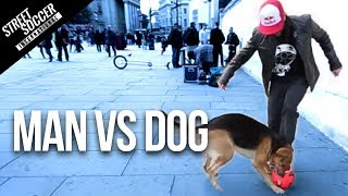 getlinkyoutube.com-MAN vs DOG - Sean Garnier vs Chien - Panna London Pt1