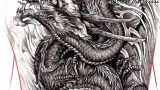 getlinkyoutube.com-TATTOO FLASH DRAGON PENCIL by artist: Hung_KTS( tattoo viet nam)