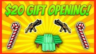 getlinkyoutube.com-$20 GIFT BOX OPENING! | Pixel Gun 3D Gift Opening #2