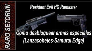 getlinkyoutube.com-Resident Evil Remake: Como desbloquear Lanzacohetes/ Pistola Samurai Edge