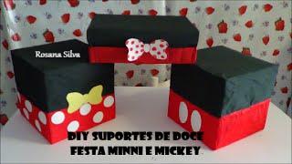 getlinkyoutube.com-DIY 3 BANDEJAS SUPORTE de DOCE BOLO e CUPCAKES FESTA MINNIE e MICKEY