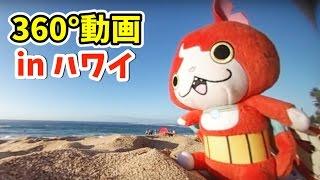 getlinkyoutube.com-360度カメラでジバニャンを撮ってみた in ハワイ 妖怪ウォッチ    Yo-kai Watch
