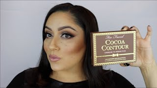getlinkyoutube.com-TOO FACED Cocoa Contour : HOW-TO, REVIEW, SWATCHES
