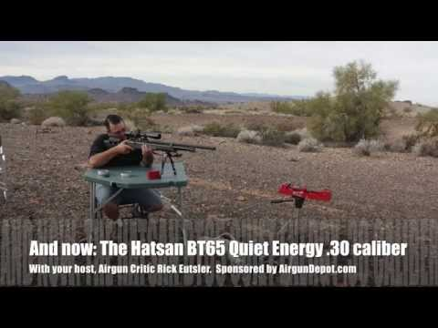 Hatsan BT65 Quiet Energy 30 Caliber! - by Airgun Expert Rick Eutsler / AirgunWeb