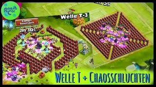 getlinkyoutube.com-Schloss Konflikt | Chaosschlucht 1,2,3 - Welle T - Arena Top 10 ಠ Castle Clash [Deutsch]