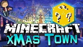 getlinkyoutube.com-Minecraft: LUCKY BLOCKS CHRISTMAS TOWN Mods! Mini-Game Challenge PVP Modded!
