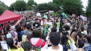 getlinkyoutube.com-20150830国会議事堂前 Sing For Peace 自由の森学園有志合唱