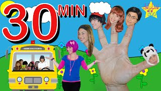 getlinkyoutube.com-Daddy Five Finger Family & Wheels on the Bus Song Collection -  Debbie Doo