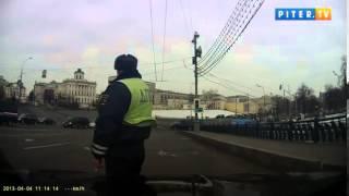 getlinkyoutube.com-Московский водитель выехал наперерез президентскому кортежу
