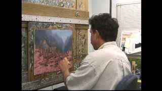 getlinkyoutube.com-Twilight Cottage - Thomas Kinkade Paints in his Studio