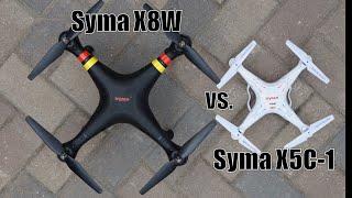 Half Chrome: Syma X8W vs. X5C