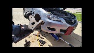 getlinkyoutube.com-Mazda 3 lower control arm replacement